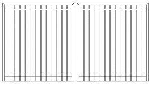 3-by-4-aluminum gate